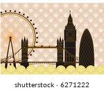 city famous buildings | Shutterstock .eps vector #6271222