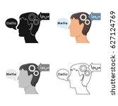 understanding of foreign...   Shutterstock .eps vector #627124769