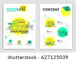 online education brochure... | Shutterstock .eps vector #627125039