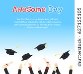 college graduation day card... | Shutterstock .eps vector #627125105