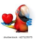 fun parrot   3d illustration | Shutterstock . vector #627125375
