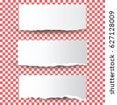 set of torn paper  isolated on...   Shutterstock .eps vector #627128009
