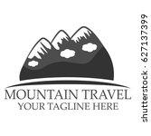 mountain travel logo   Shutterstock .eps vector #627137399