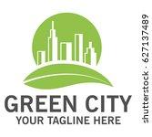 green city logo   Shutterstock .eps vector #627137489