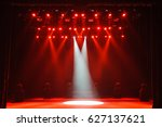 free stage with lights ... | Shutterstock . vector #627137621