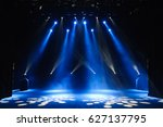 free stage with lights ... | Shutterstock . vector #627137795