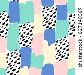 seamless repeat pattern with... | Shutterstock .eps vector #627140369
