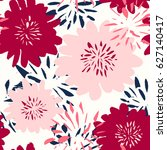 seamless repeat pattern with...   Shutterstock .eps vector #627140417