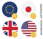 vector illustration one euro ... | Shutterstock .eps vector #627140495