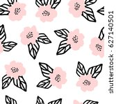 seamless repeat pattern with... | Shutterstock .eps vector #627140501