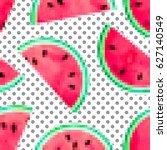 fruity seamless polka dot... | Shutterstock .eps vector #627140549