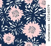 seamless repeat pattern with... | Shutterstock .eps vector #627140579