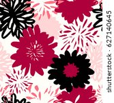 seamless repeat pattern with... | Shutterstock .eps vector #627140645