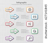 info graphic background with... | Shutterstock .eps vector #627141845