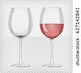 set of realistic transparent... | Shutterstock .eps vector #627142841