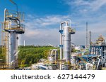 oil and refinery industrial...   Shutterstock . vector #627144479