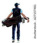 one caucasian man golfer... | Shutterstock . vector #627157481