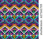 tribal doodle pattern. ethnic...   Shutterstock .eps vector #627161735