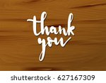 white 3d of thank you lettering ... | Shutterstock .eps vector #627167309