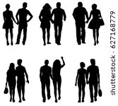 set couples man and woman... | Shutterstock . vector #627168779