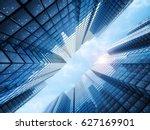 3d rendering office building... | Shutterstock . vector #627169901