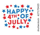 happy 4th of july united states ... | Shutterstock .eps vector #627170435