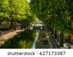 st martin's canal in paris x... | Shutterstock . vector #627173387