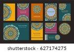 mandala vintage greeting... | Shutterstock .eps vector #627174275