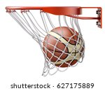 basketball going into the... | Shutterstock . vector #627175889