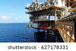 offshore construction platform... | Shutterstock . vector #627178331