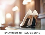 beautiful bridal high and thin... | Shutterstock . vector #627181547