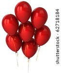 balloons red seven 7 party... | Shutterstock . vector #62718184