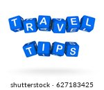travel tips sign isolated on... | Shutterstock . vector #627183425