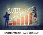 business man and businesswoman... | Shutterstock . vector #627186869