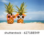 couple of funny attractive... | Shutterstock . vector #627188549