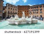piazza navona  rome. italy | Shutterstock . vector #627191399