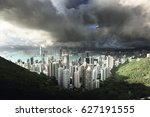 hong kong from victoria peak | Shutterstock . vector #627191555