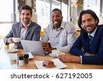 portrait of three businessmen... | Shutterstock . vector #627192005