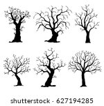 collection of trees silhouettes.... | Shutterstock .eps vector #627194285
