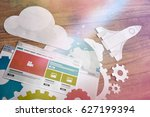 search engine optimization.... | Shutterstock . vector #627199394
