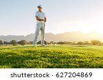 full length of young man... | Shutterstock . vector #627204869