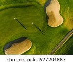 golf course top view with... | Shutterstock . vector #627204887