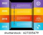 timeline vector infographic... | Shutterstock .eps vector #627205679