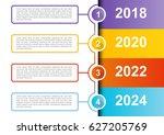 4 steps infographic timeline... | Shutterstock .eps vector #627205769