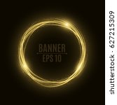 abstract golden banner of...   Shutterstock .eps vector #627215309
