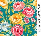 vector watercolor  floral...   Shutterstock .eps vector #627215651