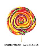 isolated spiral colored lollipop   Shutterstock . vector #627216815