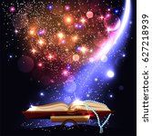 magic book with light | Shutterstock .eps vector #627218939