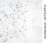 abstract molecular background... | Shutterstock .eps vector #627219911