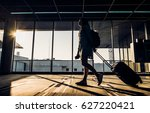 silhouette of young girl... | Shutterstock . vector #627220421